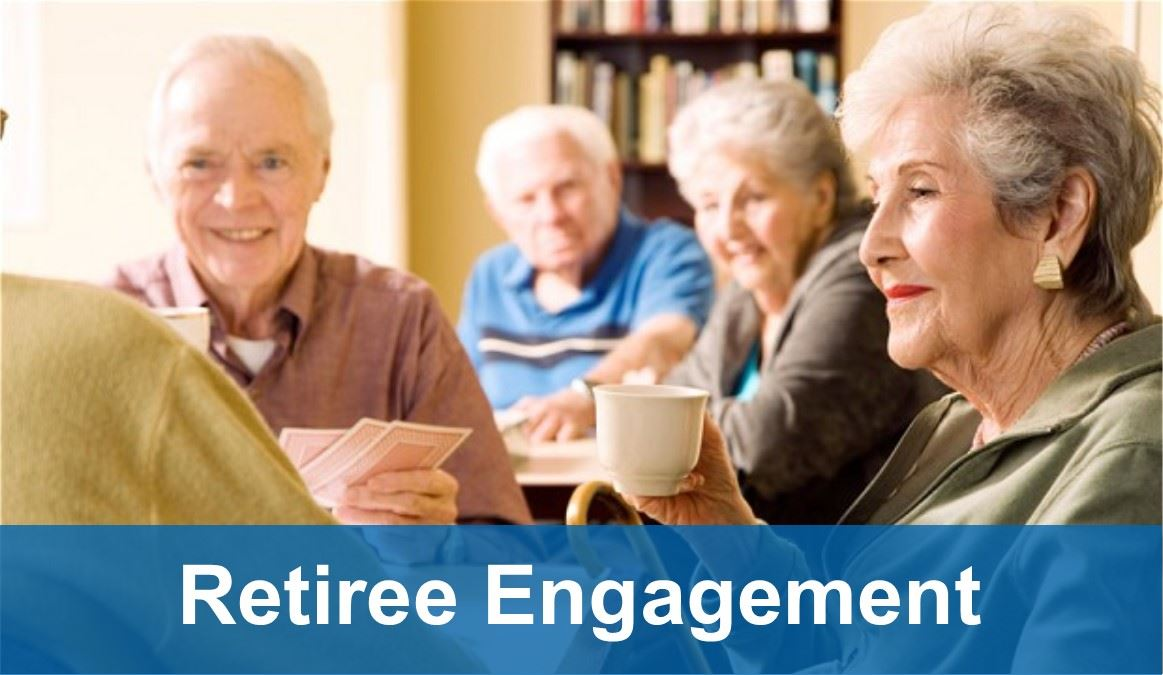 Retiree Engagement - group of retirees conversing